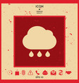cloud rain icon with drops vector image