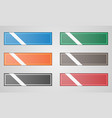 colored flat buttons vector image vector image