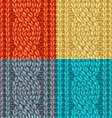 Colourful Six-Stitch Cable Stitch Textures vector image vector image