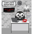 Complaints Department vector image vector image