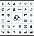 crime justice icons universal set for web and ui vector image