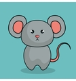 cute mouse stuffed icon vector image vector image