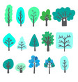 doodle trees vector image