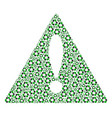 fail triangle sign mosaic of recycle arrows items vector image