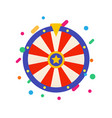 flat fortune wheel for gambling game raffle vector image vector image