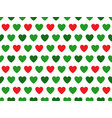 green and red heart shape pattern vector image vector image