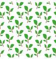 green twig pattern vector image vector image