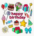 happy birthday party decoration set vector image vector image