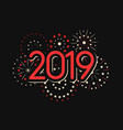 happy new year 2019 theme with fireworks chinese vector image vector image