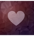 Heart in flat style icon vector image