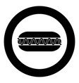 hot dog icon black color in circle vector image vector image