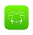 ice hockey uniform icon green vector image vector image