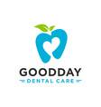 love dental health logo design vector image vector image