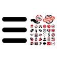 Menu Items Flat Icon with Bonus vector image vector image