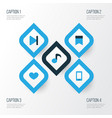 music colorful icons set collection of finish vector image vector image