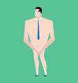 naked businessman with tie business bankrupt vector image vector image