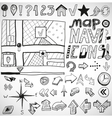 Navigation hand drawn doodles vector | Price: 1 Credit (USD $1)