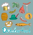 oktoberfest national german festival sticker of a vector image vector image