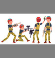 paintball player proffesional sport vector image vector image