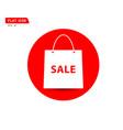 paper shopping bag icon online shop sale logo vector image