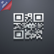 Qr code icon symbol 3D style Trendy modern design vector image vector image