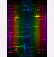 rainbow glitch vertical background vector image vector image