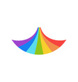 rainbow graphic design template isolated vector image vector image