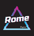 Rome city glitch effect retro vector image