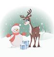 rudolph reindeer vector image vector image