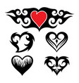 set abstract love tribal vector image vector image