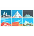 set cards with mountain landscapes vector image