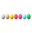 set colorful eggs isolated on white background vector image