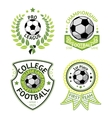 set of green vintage Football labels With vector image vector image