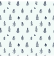simple cartoon seamless patterns with cute trees vector image
