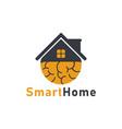 smart home icon logo design template vector image vector image