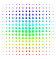 stop hand icon halftone spectral grid vector image