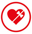 Tied love heart rounded icon