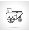 Trailer with water black line icon vector image vector image