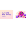 traveling world web banner concept vector image vector image