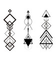 tribal hipster geometric arrows set vector image