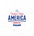 united states of north america logo vintage vector image vector image