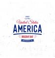 united states of north america logo vintage vector image
