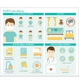 Medicine infographic vector image