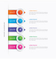 5 circle step infographic with abstract timeline vector image vector image