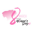 8th march with women silhouette international vector image vector image