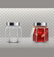 a set of of glass figured vector image vector image