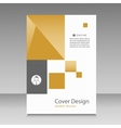 Abstract brochure template with squares elements vector image