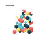 abstract modern geometric composition background vector image vector image