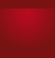 abstract red perforated metal background vector image vector image