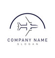 airplane abstract logo vector image